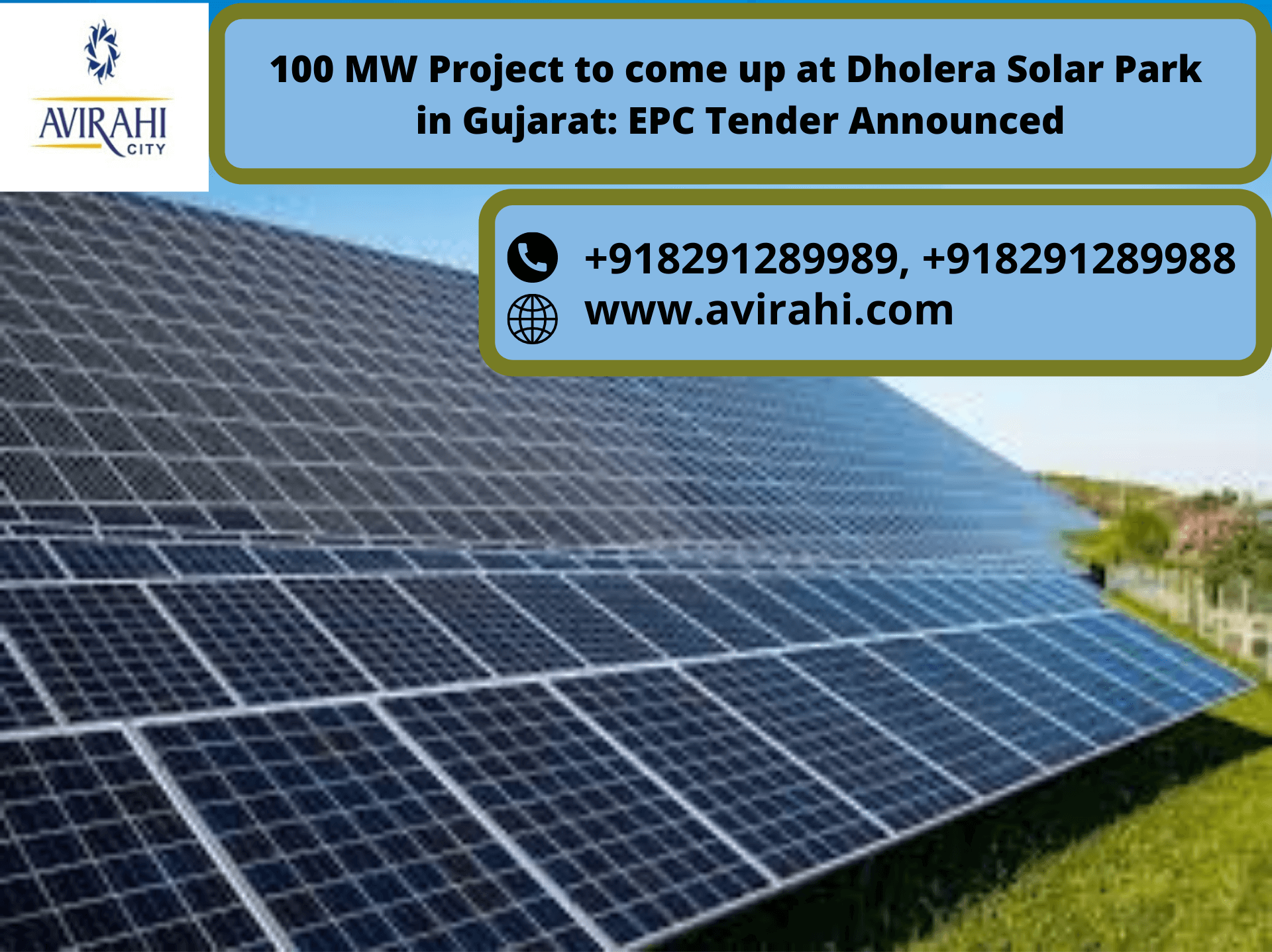 100 MW Project to come up at Dholera Solar Park in Gujarat_ EPC Tender Announced (1)