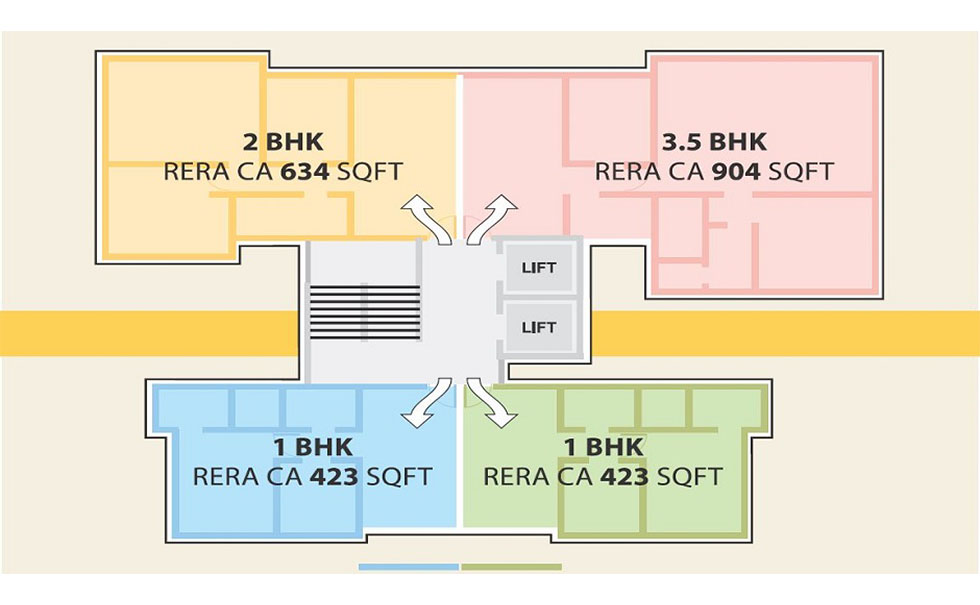 1 BHK & 2 BHK | 3.5 BHK SQFT